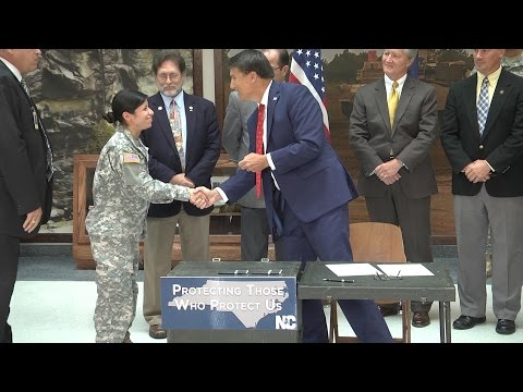NCNG: NC Gov. Pat McCrory Signs Bill To Allow Designated NCNG Soldiers to Concealed Carry