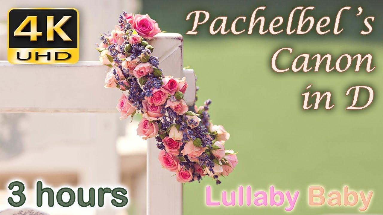 3 HOURS Pachelbel CANON IN D 4K UHD PACHELBELS Wedding Entrance Relaxing Music