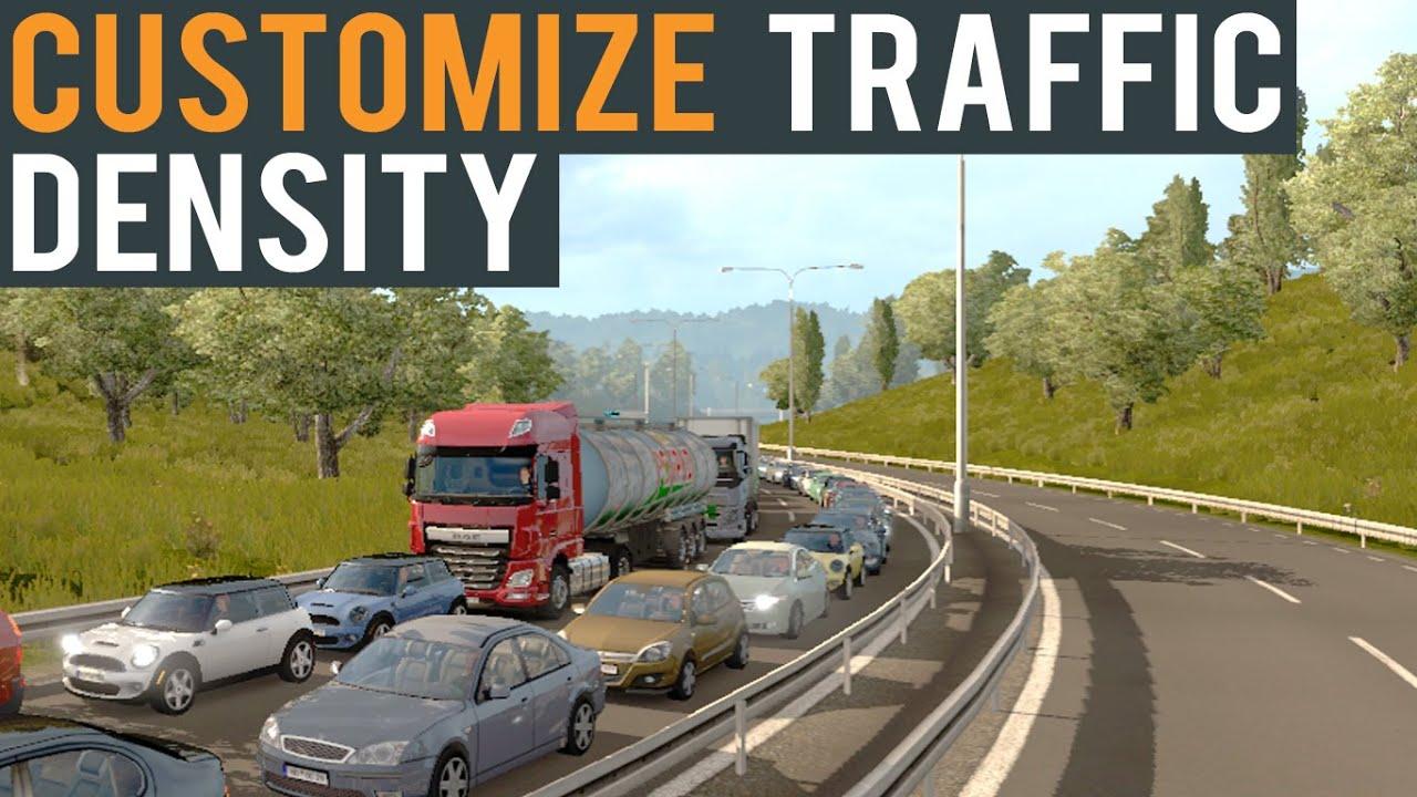 Euro Truck Simulator 2 (Tutorial) Customize Traffic Density (Beta 1 22)