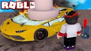 QUEBREI CARROS NOVOS DE 100.000.000,00 R$ NO ROBLOX!! (Roblox Car crushers 2)