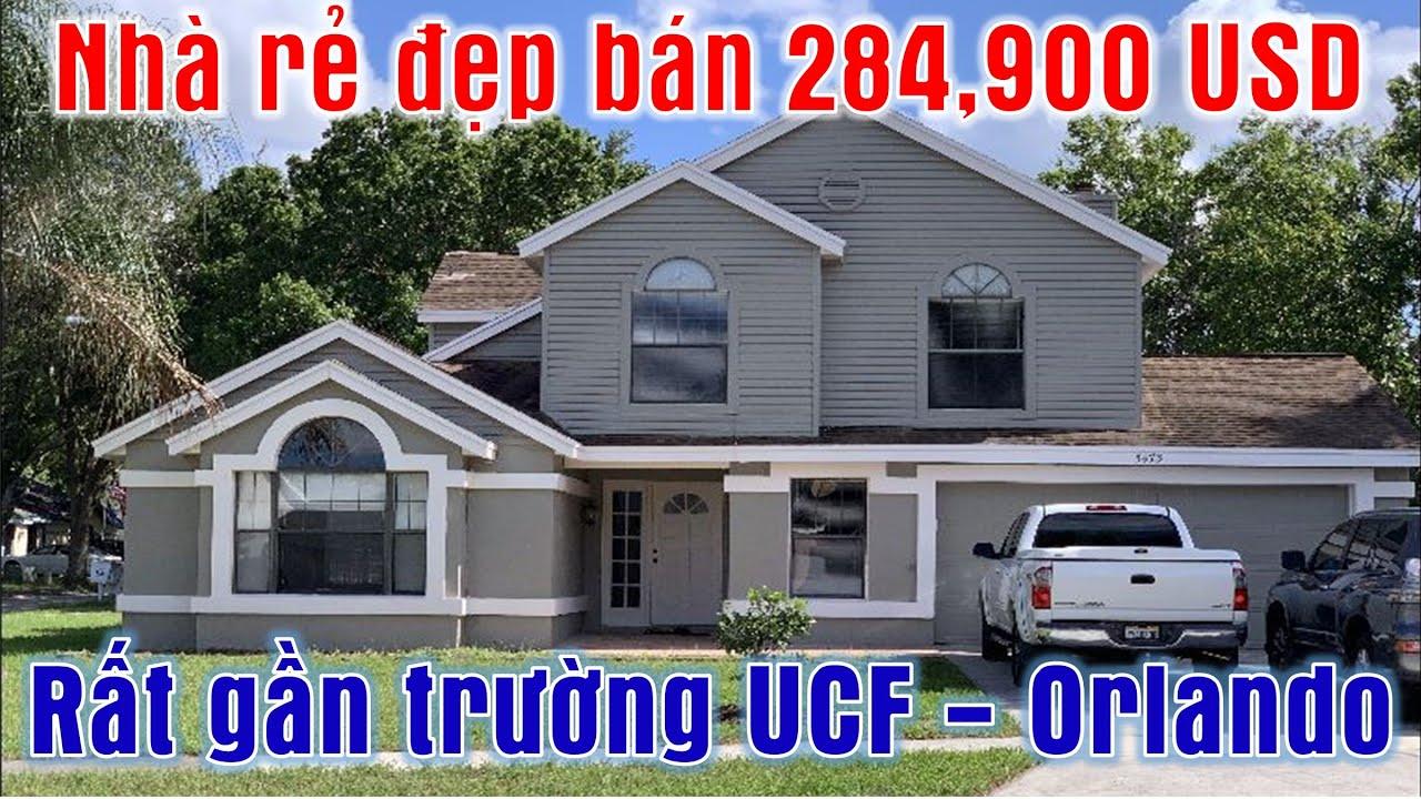 Nhà rẻ đẹp bán 284,900 USD rất gần trường Đại học UCF Orlando (Vlog 235 - Nhà đất ở Florida)