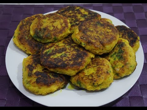 🇬🇧🇮🇳🍅🍆 Easy Potato Cakes Recipe - Vegetarian Spicy Indian Aloo Tikki
