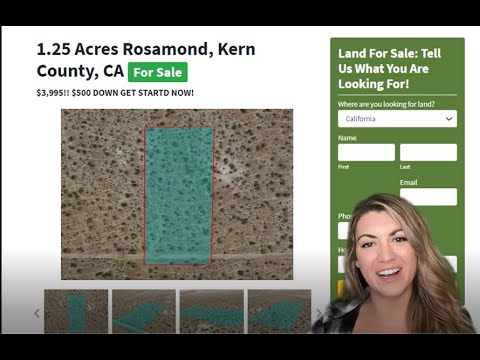 1.25 Acres Rosamond Kern County CA