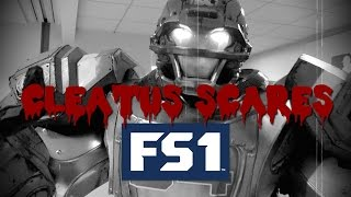 Cleatus scares the FS1 office for Halloween