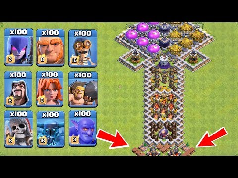 Who Can Survive This Difficult Trap on COC? Trap VS Troops #14