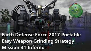Earth Defense Force 2017 Portable: Easy Inferno weapon grinding strategy