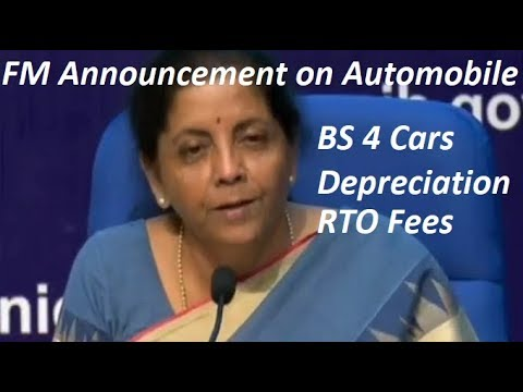 Big Announcement on BS4 Cars, Depreciation Slabs, Registration Tax Fees