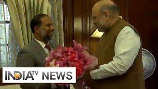 Amit Shah meets his Maldivian counterpart in Delhi
