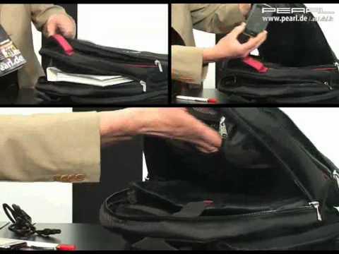 Xcase Notebook-Rucksack mit XL-Stauraum & MP3-Player-Tasche
