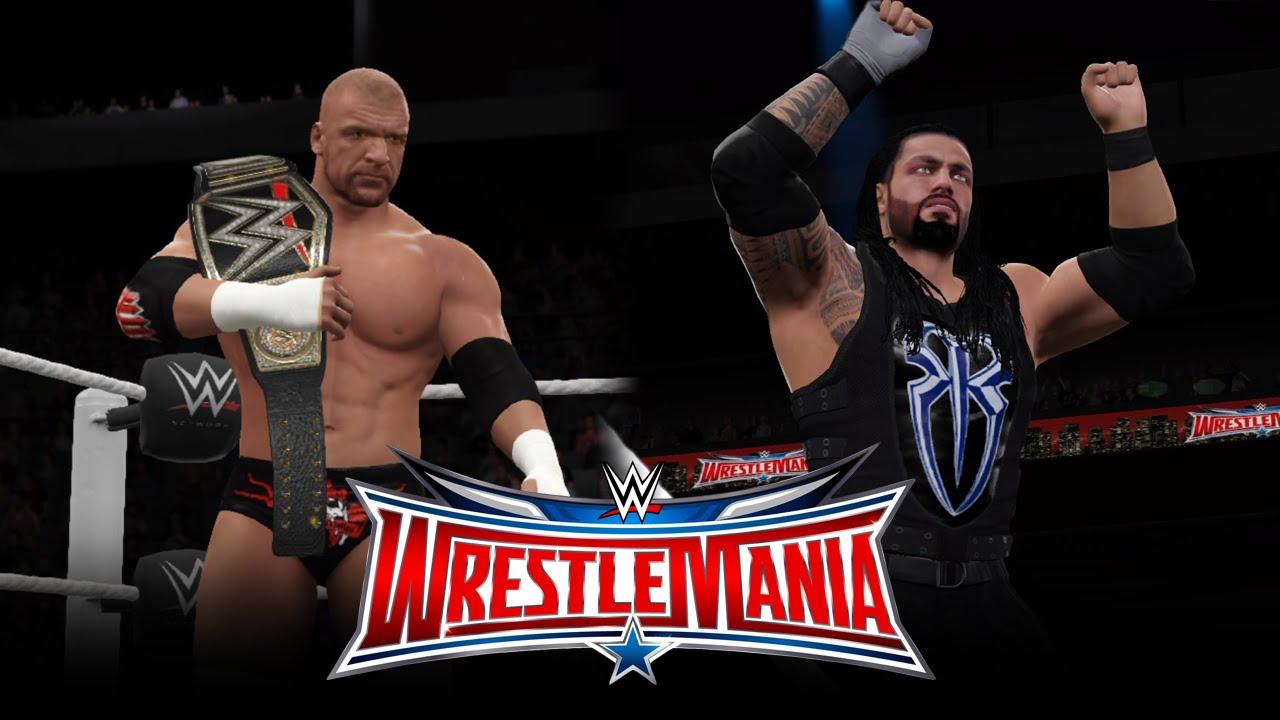 Download Triple H vs Roman Reigns - Wrestlemania 32 [WWE 2K16] - WWE World Heavyweight Championship