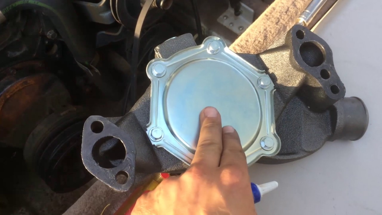 350 Chevy Engine Parts Diagram How To Change The Water Pump On A Mercruiser 5 7 Engine
