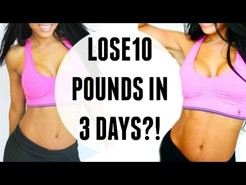 how to lose weight in 3 days at home