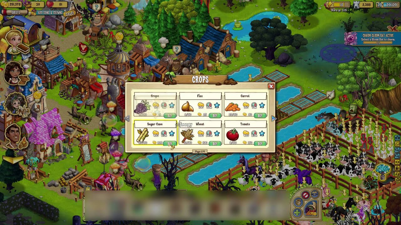Old Facebook Games Zynga S Castleville Youtube