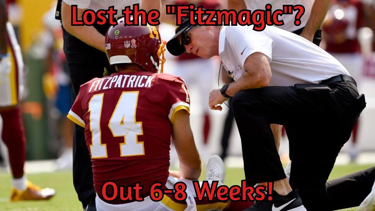 Washington QB Ryan Fitzpatrick is expected to miss 6-8 weeks ...