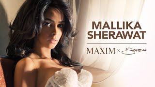 vuclip Mallika Sherawat shoots Maxim India 75th Cover with Nick Saglimbeni