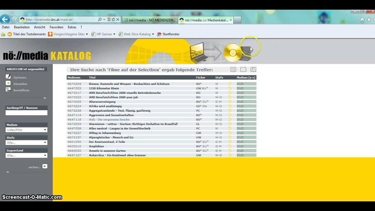 Youtube Filmliste
