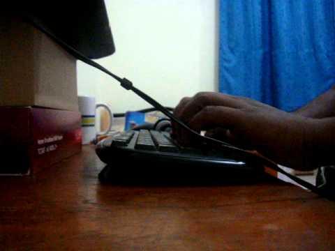 pradeep's typing fast from doha, qatar