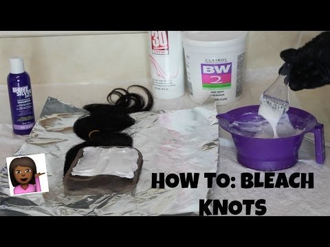 HOW TO: Bleach Knots on a Lace Closure
