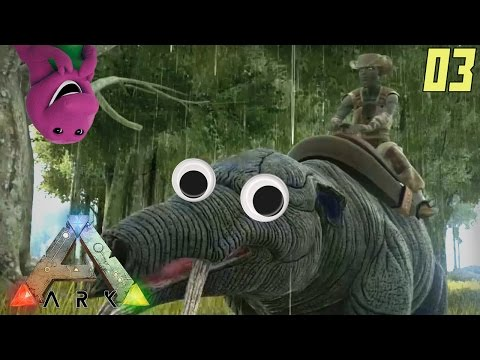 "ARK Survival Evolved Gameplay Ep 03 - ""DINOSAUR HOOPTIE RIDE!!!"" (PC Alpha Let's Play)"