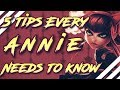 5 THINGS EVERY ANNIE NEEDS TO KNOW!! League of Legends Annie Guide