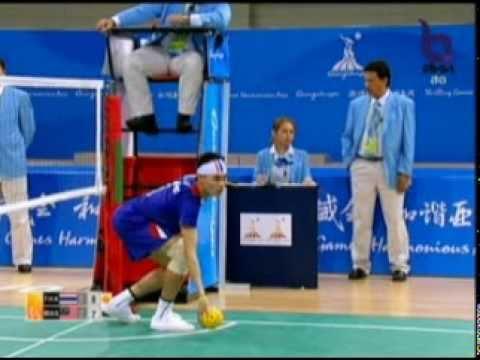 Sepak Takraw(Men's Team A+B) @2010 Asian Games - Thailand vs Malaysia (Gold Medal Match) 1/7