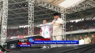 NET24 - Prabowo dan Jokowi Raih Simpati Kaum Pekerja di Hari Buruh