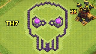 Clash Of Clans Skull Base th7 / Town Hall 7 Best Bat Layout