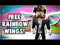 HOW TO GET FREE RAINBOW WINGS! ROBLOX MAKE A CAKE EVENT!
