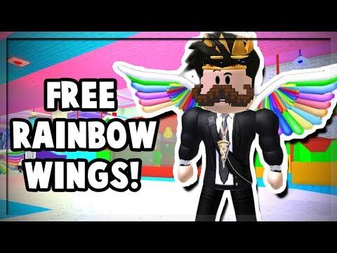 rainbow wings roblox free