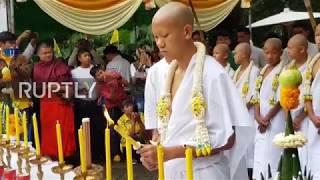 Thailand: Boys rescued from cave ordained as Buddhist novices