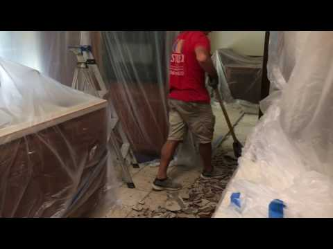 Water Damage Demo And Equipment Set Up