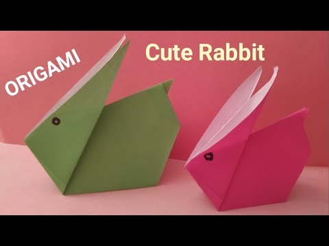 Make origami cute rabbit - paper rabbit - easy origami