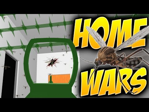 Home Wars - ALL OUT BUG WAR! - Flying Insects Attack - Home
