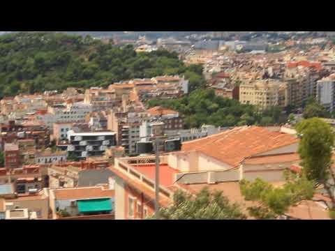 Guell, Park, Barcelona, Spain, modern, art, sun, beams, wonderful, panorama, overview, 360,MVI 8349