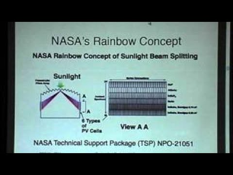 Space Solar Power: Two Cell High Efficiency Rainbow Concentrator Thomas C. Taylor