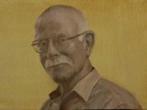 Oil painting process - miniature portrait of Robert Eakin