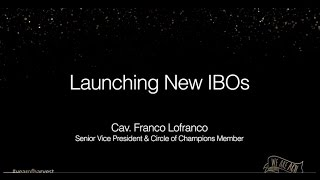 ACN Training: Launching New IBOs by ACN COC + SVP Cav. Franco Lofranco