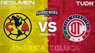 Resumen y goles | América vs Toluca | Guard1anes 2020 Liga BBVA MX - J10 | TUDN