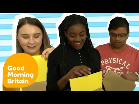 A-Level Results Opened Live On Air | Good Morning Britain