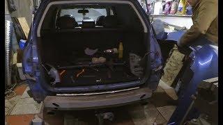 Снятие заднего бампера и осмотр повреждений после ДТП. Subaru Outback