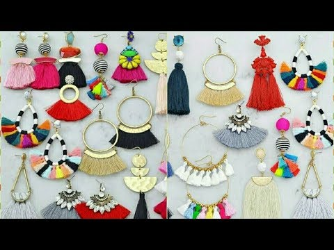 silk thread hangings / silk thread earrings / silk thread jewellery making || Art Beauty Corner
