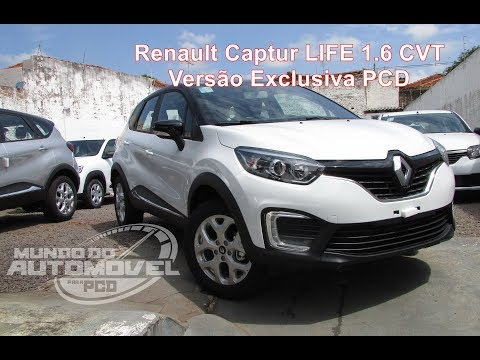 Review | Renault Captur LIFE 1.6 CVT | Versão Exclusiva PCD