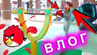 Гигантский ANGRY Birds КЕПКА ЧЕЛЛЕНДЖ ИГРОВАЯ КОМНАТА ВЛОГ | Elli Di
