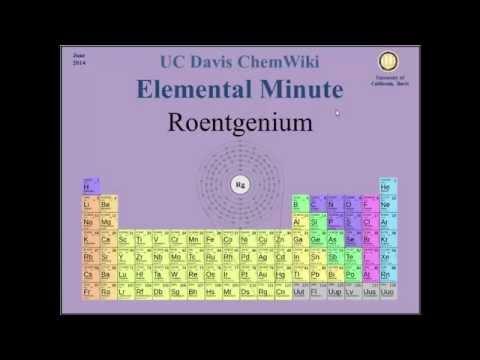 Chem Wiki Elemental Video: Roentgenium (physical properties)