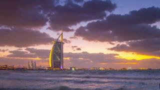 Burj Al Arab Sunset Timelapse in 4K