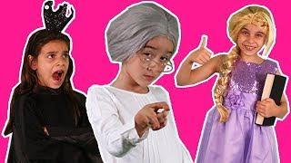 PRINCESSES GO BACK TO SCHOOL   Boring Lesson Made Fun   Teacher Transformed to Princess Magic