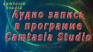 7. Аудио запись в Camtasia Studio