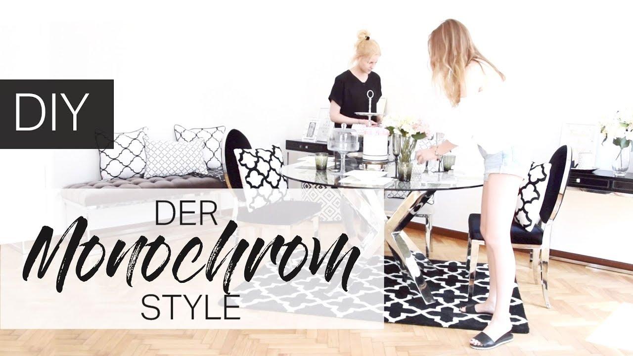 Diy Monochrom Look Interior Design Makeover Umstyling Im Schwarz