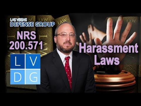 "Harassment in Nevada – ""When is it a crime?"" 5 Things to Know"
