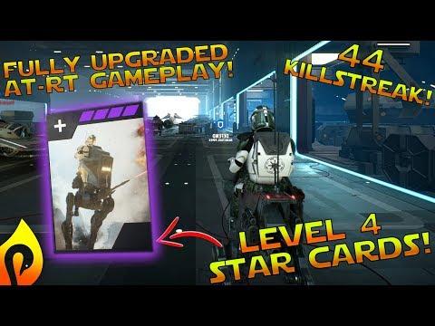 Star Wars Battlefront 2: Fully Upgraded AT-RT Gameplay/ 44 Killstreak!!!